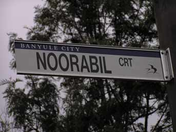 Street Sign for Noorabil Court
